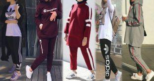 صورة ملابس رياضية تركية للمحجبات , اشيك واجمل ملابس رياضية لعام 2020